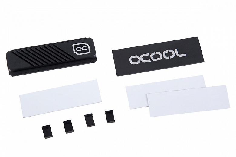 Комплект Alphacool HDX Pro Air предназначен для охлаждения твердотельных накопителей типоразмера M.2 2280