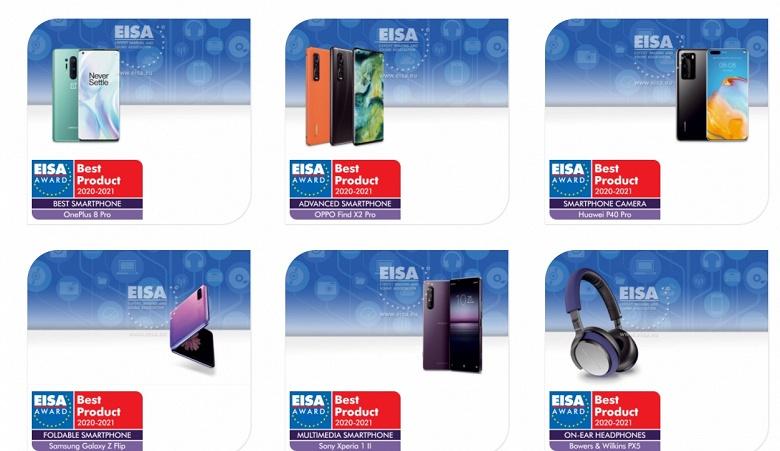 Лучший смартфон — OnePlus 8 Pro, лучший камерофон — Huawei P40 Pro. Появились призёры премии EISA