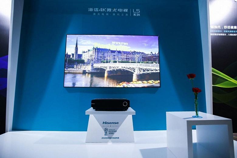 Hisense выпустила свой «100-дюймовый» ультракороткофокусный проектор на 1000 долларов дешевле обещанной цены
