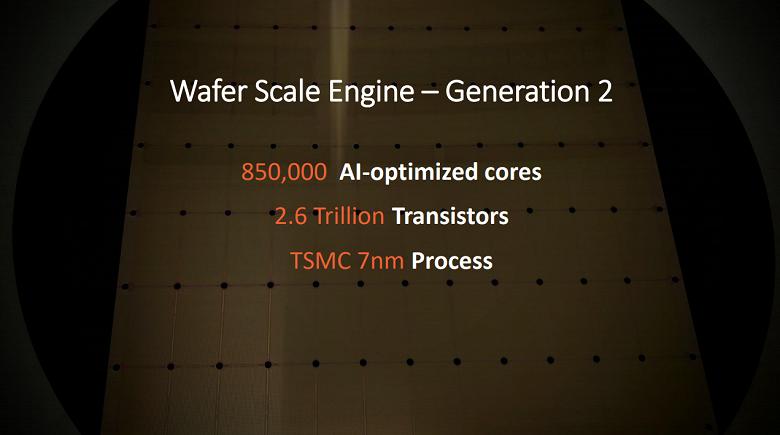 Самая чудовищная микросхема в мире. Cerebras Wafer Scale Engine второго поколения содержит 2,6 трлн транзисторов