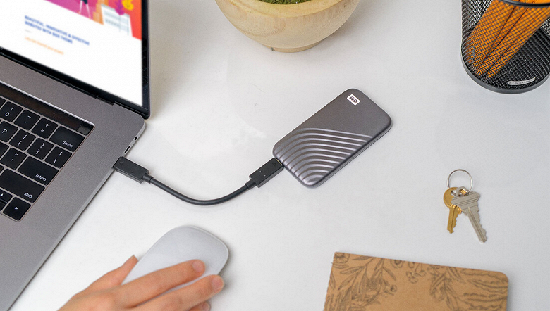 Портативный SSD Western Digital My Passport доступен за 190 долларов при объёме в 1 ТБ
