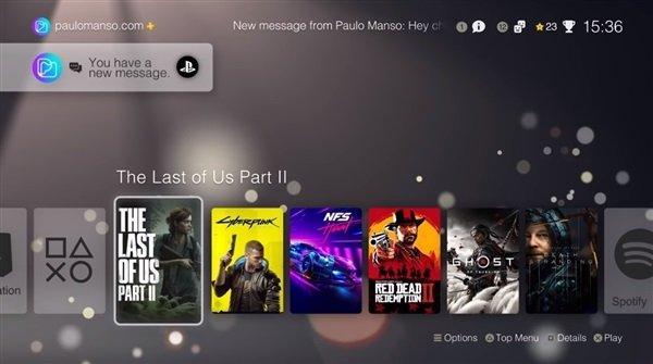 Так выглядит интерфейс PlayStation 5