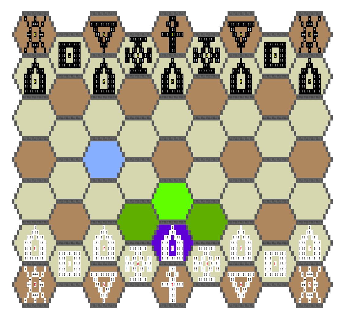 4 угла хорошо, а 6 лучше: гексагональные шахматы в консоли и с ботом - 8