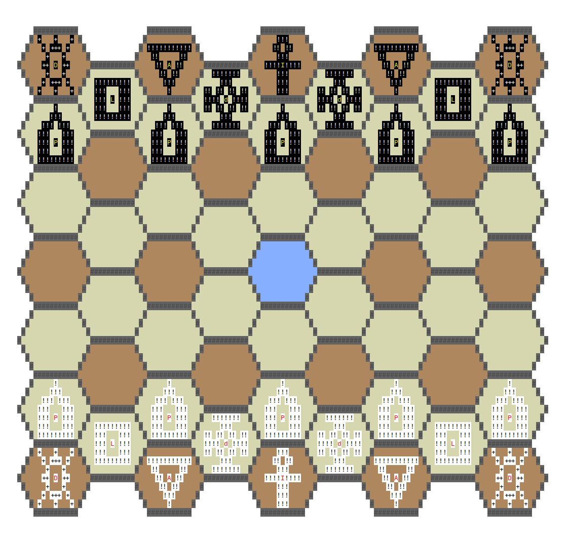 4 угла хорошо, а 6 лучше: гексагональные шахматы в консоли и с ботом - 1