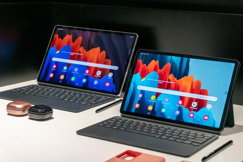 В России выходят первые в мире планшеты на Snapdragon 865+ и с экранами 120 Гц: Samsung Galaxy Tab S7 и Galaxy Tab S7+