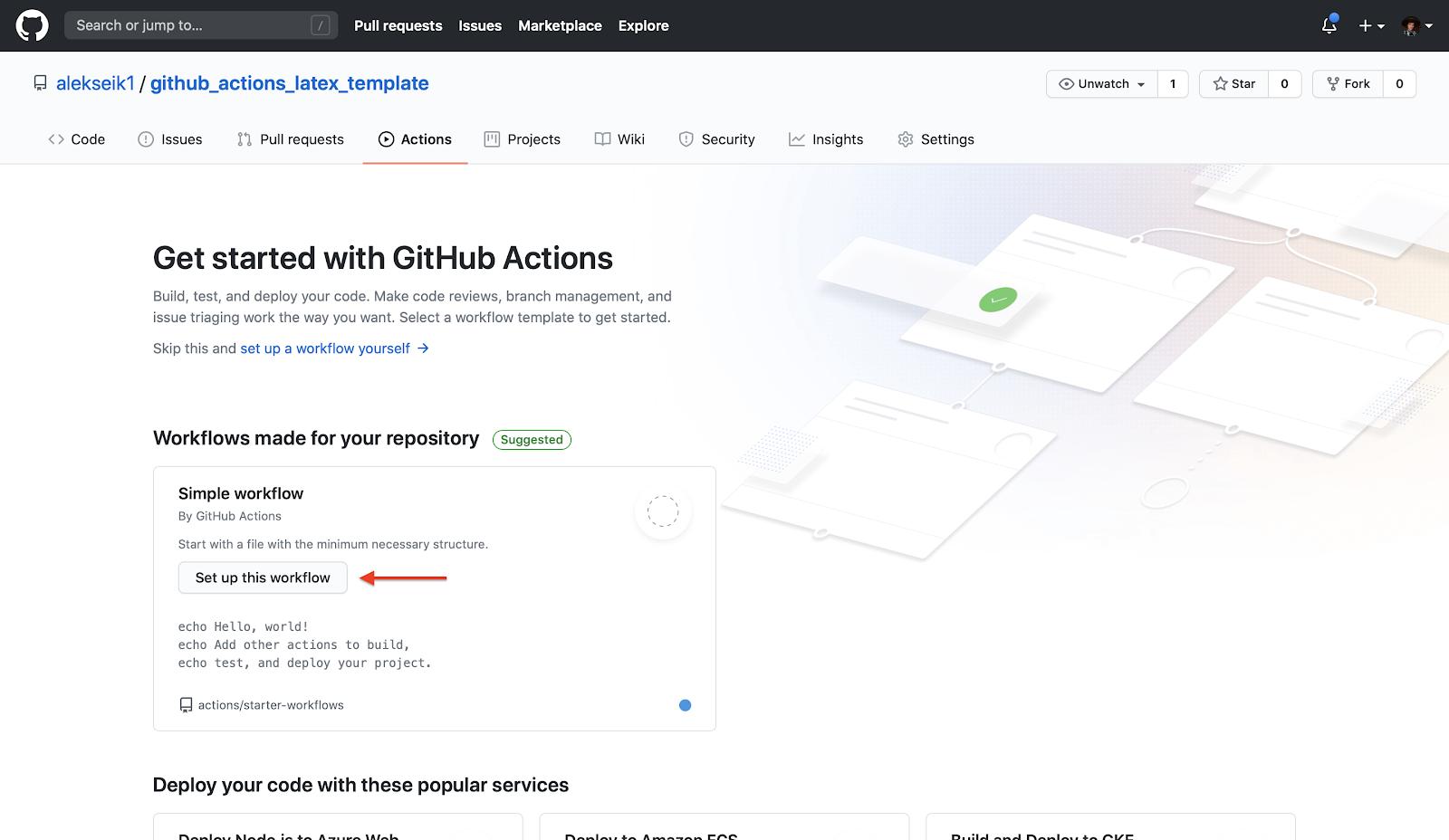 GitHub Actions и LaTeX: поднимаем, заливаем - 2