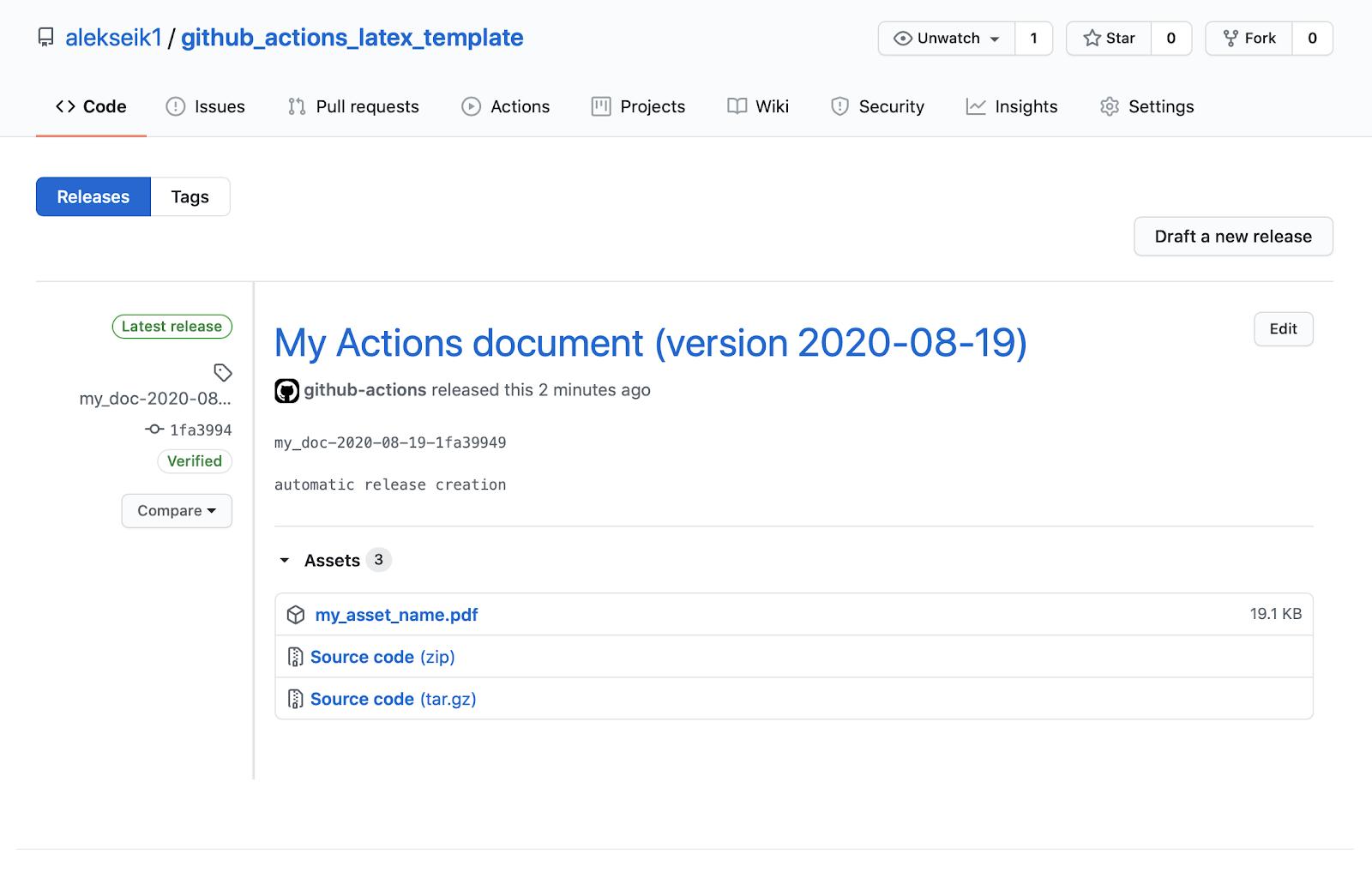 GitHub Actions и LaTeX: поднимаем, заливаем - 5