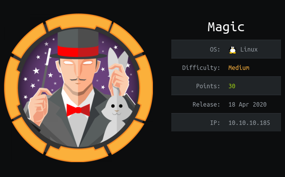 HackTheBox. Прохождение Magic. Password spraying. Mysqldump и LPE через sysinfo - 1
