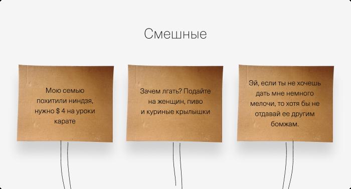Копирайтинг и дизайн табличек для милостыни. Обзор научных исследований - 3