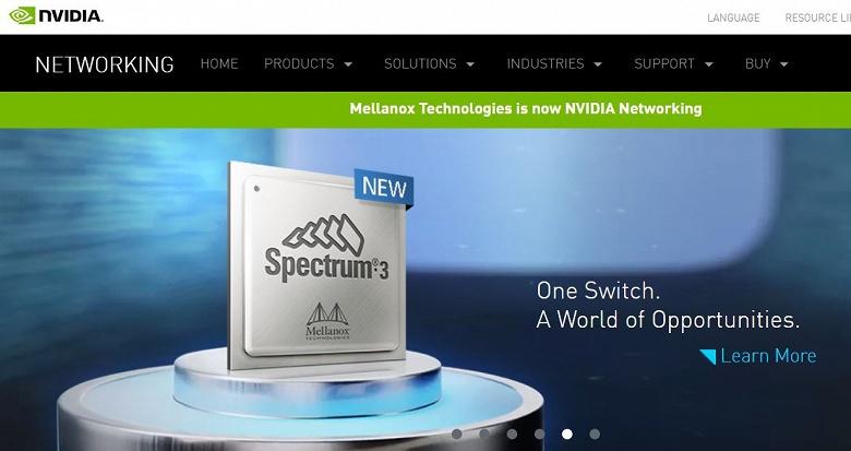 Nvidia отказалась от имени Mellanox