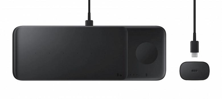 Пока Apple пытается, Samsung уже выпустила беспроводную зарядную станцию Wireless Charger Trio для одновременной зарядки трёх устройств