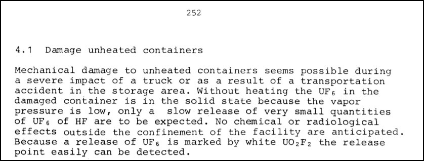 Ввоз немецких урановых хвостов в Россию. Часть 3: Риски и опасности при обращении с ОГФУ - 8