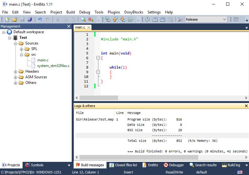 Обновление для IDE EmBitz 1.11 - 9