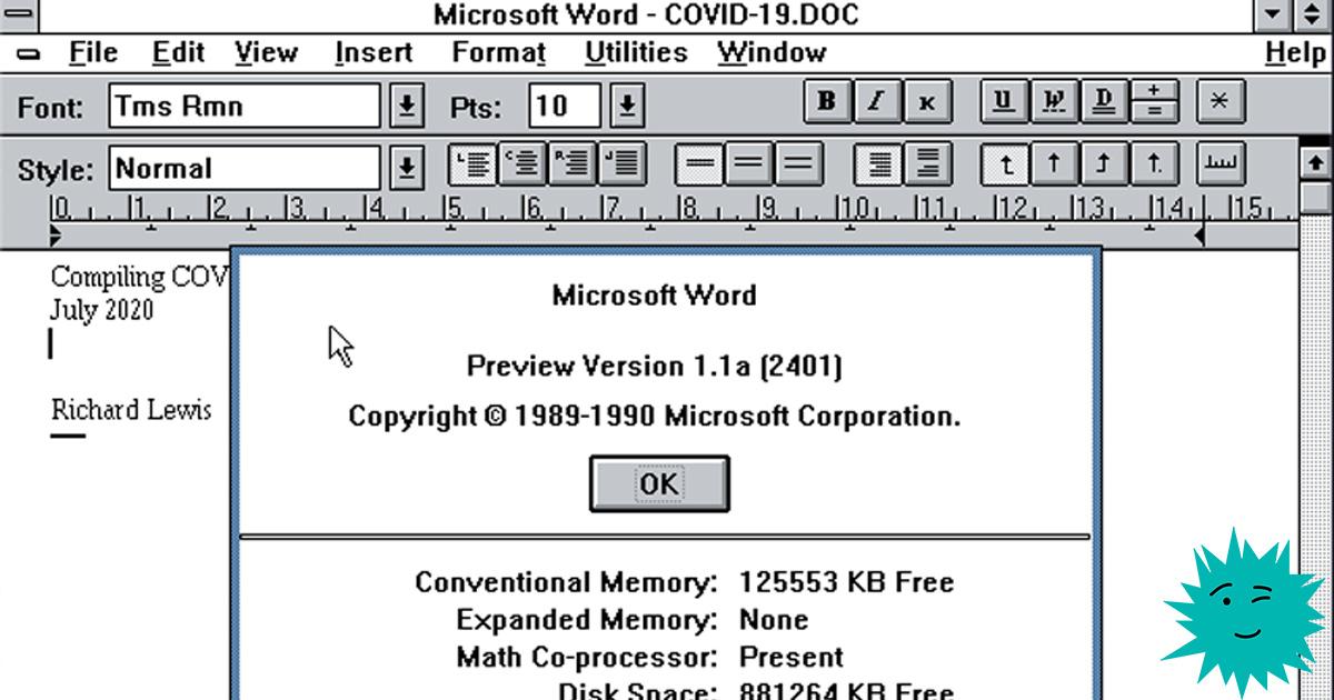 Компилируем Microsoft Word 1989 года - 1