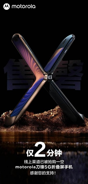 Не только Samsung умеет создавать хорошие гибкие смартфоны. Motorola RAZR 5G тепло приняли в Китае