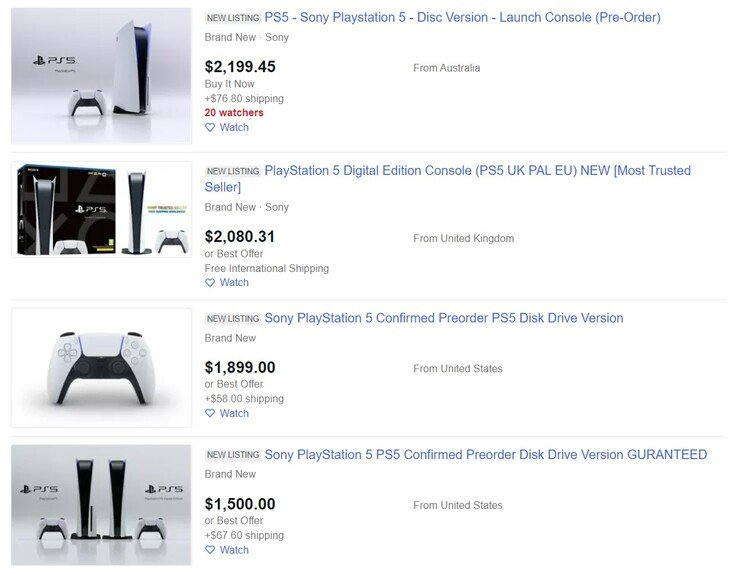 Стоимость PlayStation 5 взлетела до $2000 в США