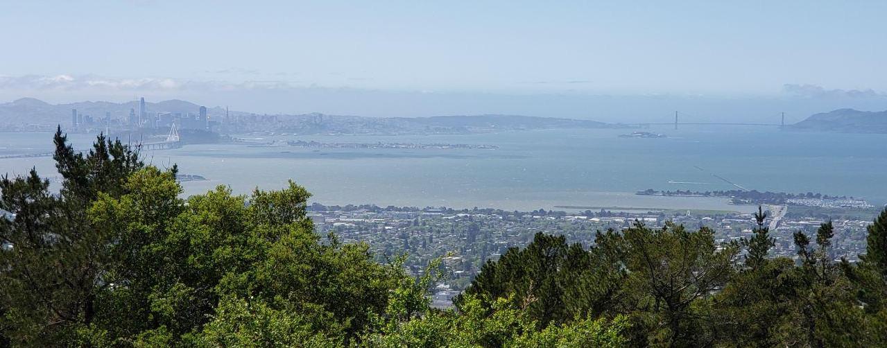 Вид на Сан-Франциско с восточной стороны залива