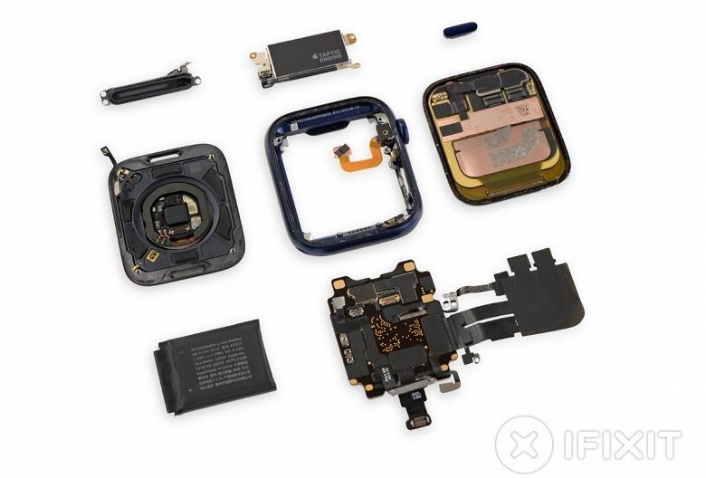 Новые умные часы Apple всё-таки получили более ёмкий аккумулятор. iFixit оценили ремонтопригодность часов