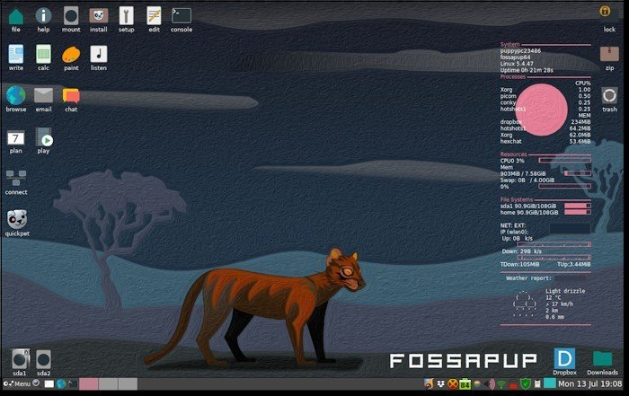 Вышел Puppy Linux 9.5, дистрибутив для устаревших и слабых ПК и ноутбуков - 1
