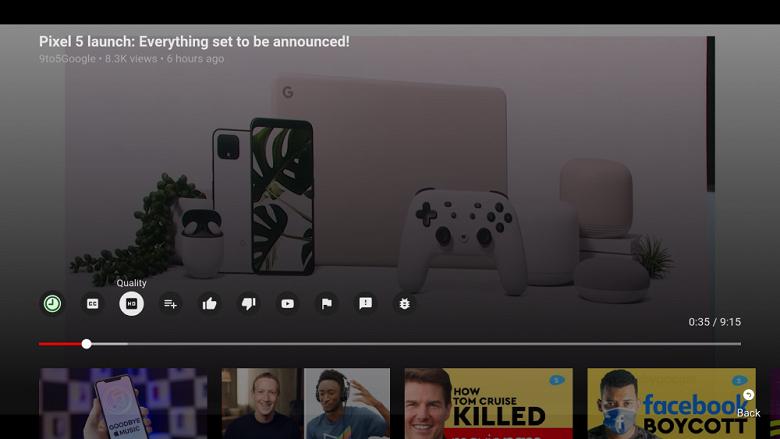 YouTube сильно изменился на умных телевизорах