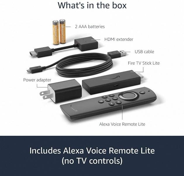 Представлены недорогие ТВ-приставки в формате флешки Amazon Fire TV Stick Lite и Fire TV Stick 3-го поколения