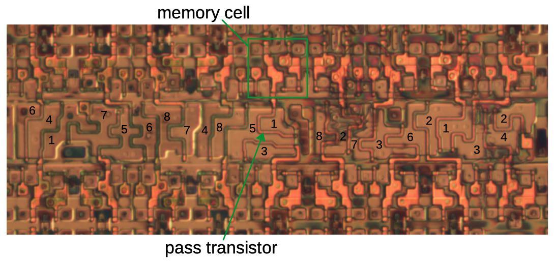 Обратная разработка XC2064 — первой микросхемы FPGA - 27