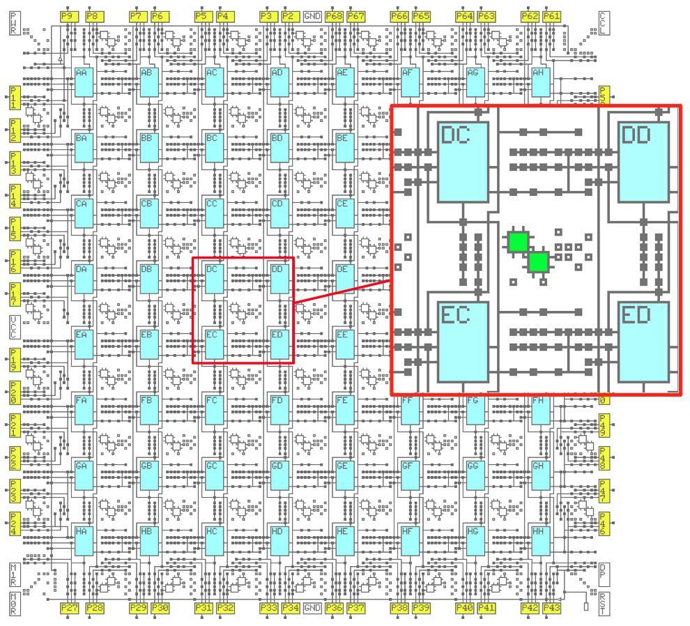 Обратная разработка XC2064 — первой микросхемы FPGA - 8
