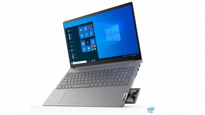 Ноутбук со встроенными TWS-наушниками. Такой есть у Lenovo