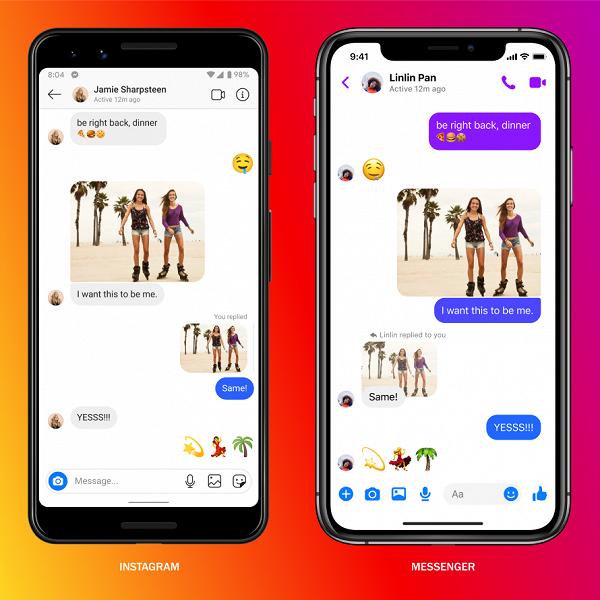 Сообщения Instagram объединили с Facebook, WhatsApp на очереди
