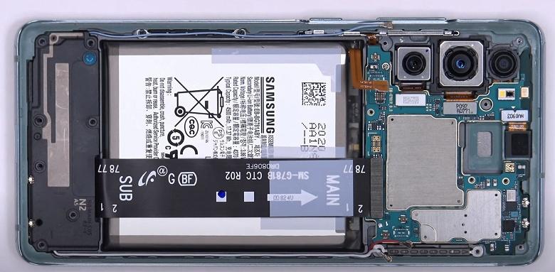 Что общего у Samsung Galaxy S20 FE и почти вдвое более дорогого Galaxy Note20 Ultra? Разборка первого даёт ответ