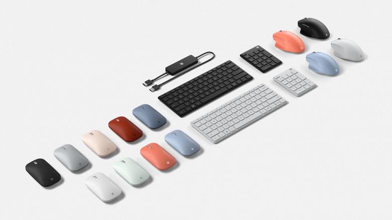 Представлены новые клавиатура, мышь и беспроводной адаптер дисплея Microsoft