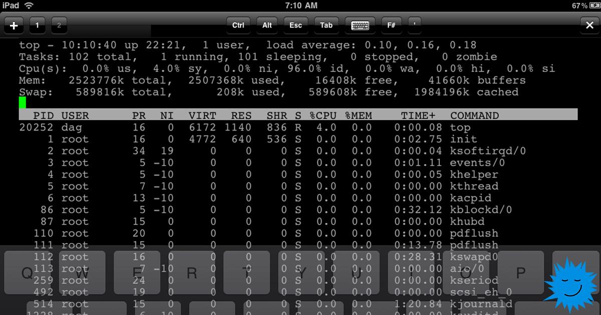 Запускаем командную строку Linux на iOS - 1