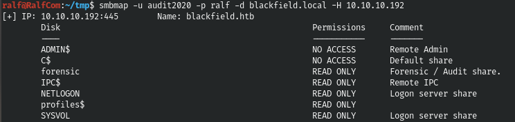 HackTheBox. Прохождение Blackfield. Захват контроллера домена через SMB и RPC, LPE через теневую копию - 10