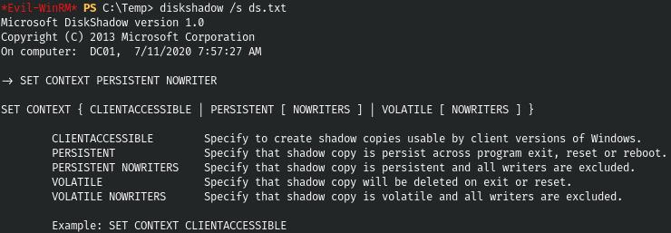 HackTheBox. Прохождение Blackfield. Захват контроллера домена через SMB и RPC, LPE через теневую копию - 17