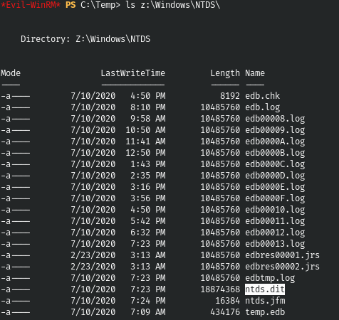 HackTheBox. Прохождение Blackfield. Захват контроллера домена через SMB и RPC, LPE через теневую копию - 18