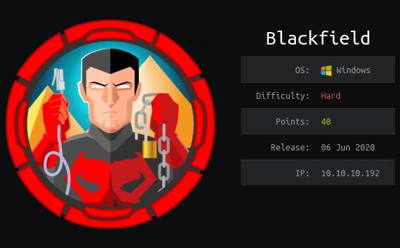 HackTheBox. Прохождение Blackfield. Захват контроллера домена через SMB и RPC, LPE через теневую копию - 1