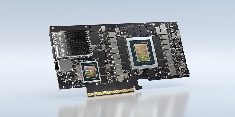 Nvidia объединила на одной плате процессор Arm, GPU Ampere и сетевой адаптер Mellanox. Представлены BlueField-2 и BlueField-2X
