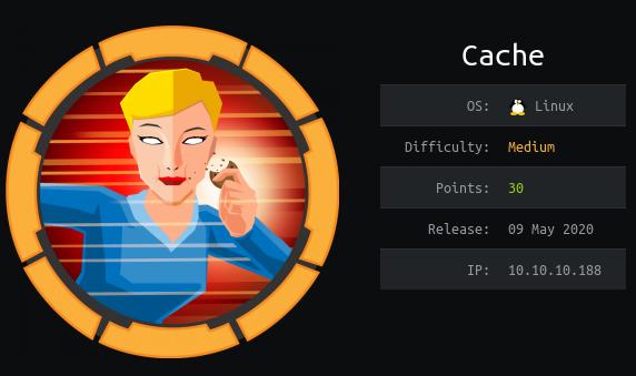 Hack The Box. Прохождение Cache. RCE в OpenEMR, memcached и docker - 1