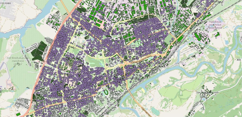 Рассказ об этапах работы над картой возраста домов Владимира - 2