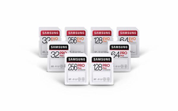 Карты памяти Samsung Pro Plus и Evo Plus формата SD, рассчитанные на «самые суровые условия», обеспечивают скорость передачи данных до 100 МБ/с