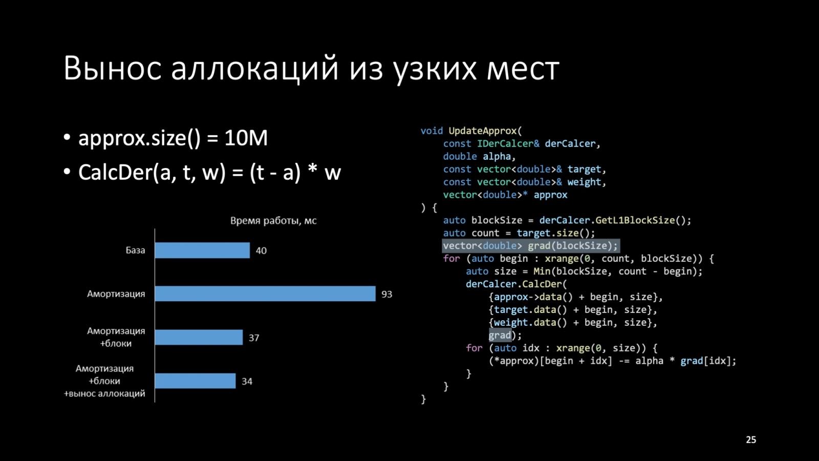 Оптимизация C++: совмещаем скорость и высокий уровень. Доклад Яндекса - 25
