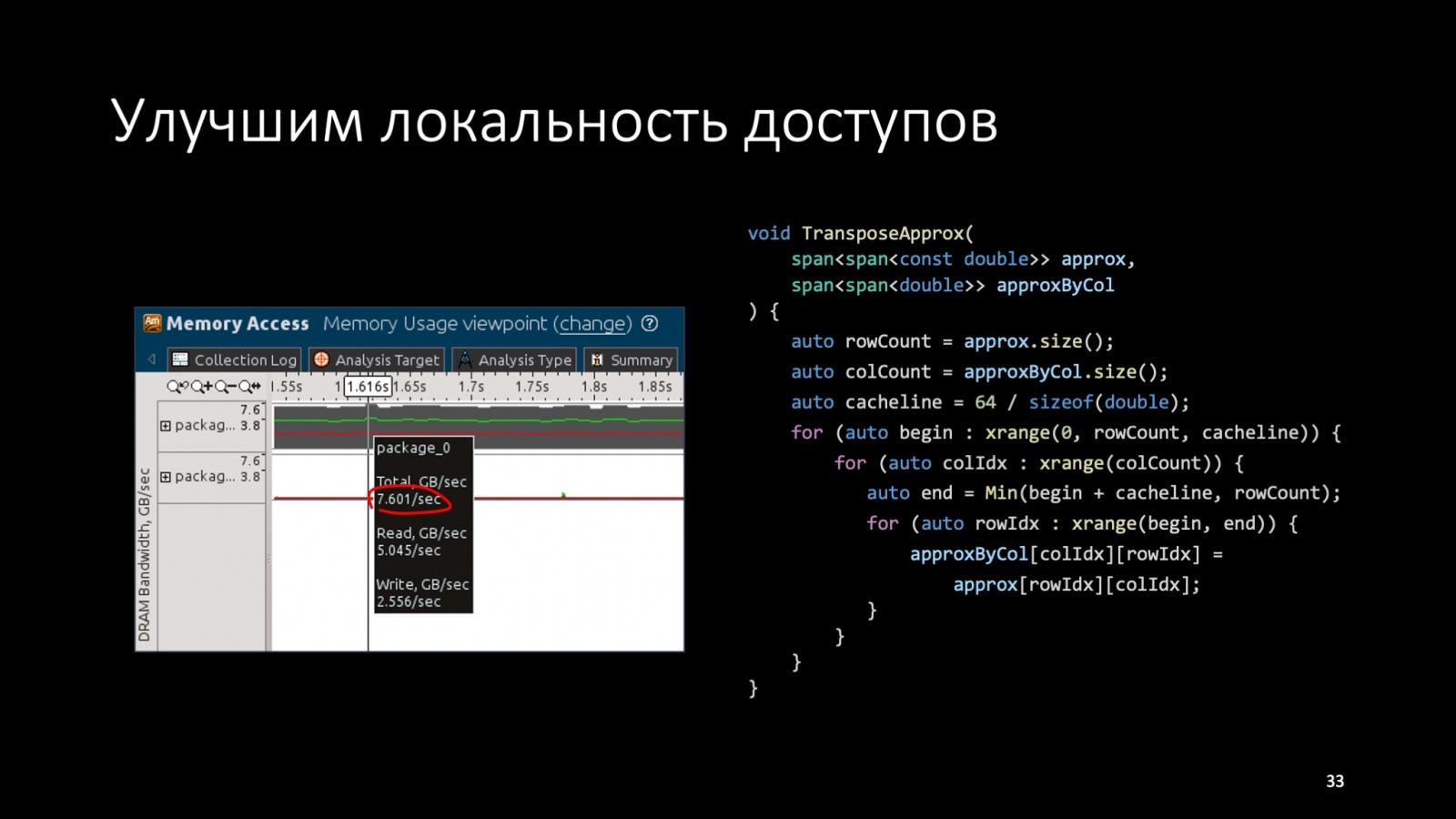 Оптимизация C++: совмещаем скорость и высокий уровень. Доклад Яндекса - 36