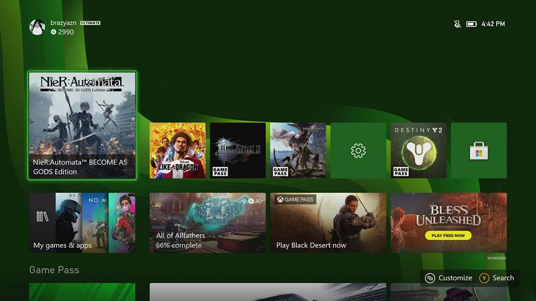 Ещё один минус Xbox Series X перед PlayStation 5. У первой интерфейс будет отображаться лишь в Full HD