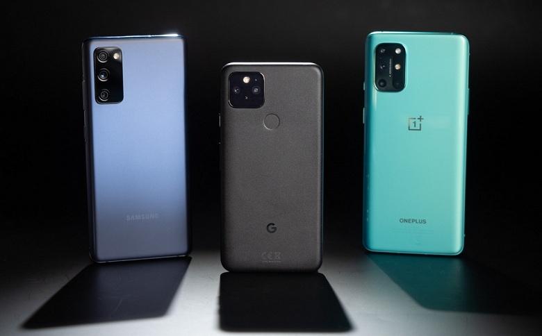 Эталонный «андроидфон», «лучший Samsung 2020 года» и возрождённый «убийца флагманов». Pixel 5, Samsung Galaxy S20 FE и OnePlus 8T в битве камер