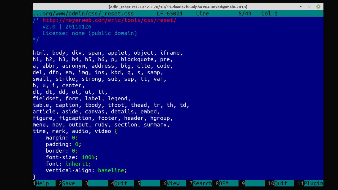 Линукс-порт Far Manager: прогресс за 4 года - 6