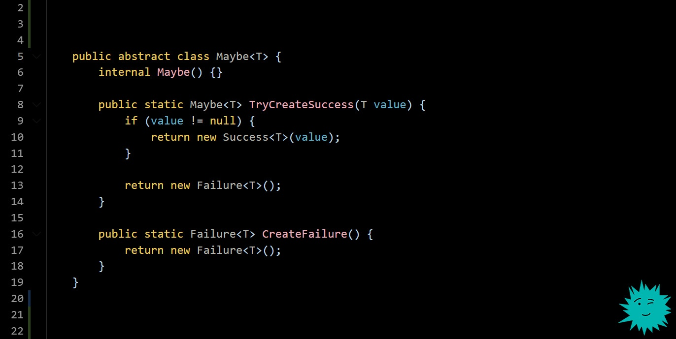 Я принес вам решение проблемы с исключениями в C#. Но вам не понравится - 1