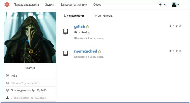 Hack The Box. Прохождение Dyplesher. Memcached, Gogs, RCE через создание плагина и LPE через AMQP - 15